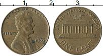 Изображение Монеты США 1 цент 1962 Бронза XF Авраам Линкольн