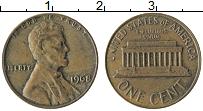 Изображение Монеты США 1 цент 1968 Бронза XF Авраам Линкольн
