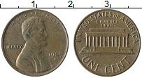 Изображение Монеты США 1 цент 1969 Бронза XF