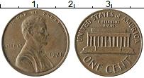 Изображение Монеты США 1 цент 1971 Бронза XF Авраам Линкольн