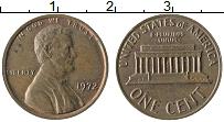 Изображение Монеты США 1 цент 1972 Бронза XF