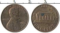 Изображение Монеты США 1 цент 1976 Бронза XF