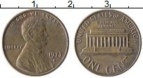 Изображение Монеты США 1 цент 1977 Бронза XF Авраам Линкольн D
