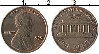 Изображение Монеты США 1 цент 1979 Бронза XF Авраам Линкольн