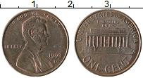 Изображение Монеты США 1 цент 1993 Бронза XF