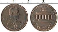 Изображение Монеты США 1 цент 1993 Бронза XF Линкольн