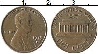 Изображение Монеты США 1 цент 1975 Бронза XF Авраам Линкольн D