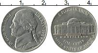 Изображение Монеты США 5 центов 1989 Медно-никель XF