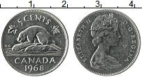 Изображение Монеты Канада 5 центов 1968 Медно-никель UNC- Елизавета II