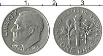 Изображение Монеты США 1 дайм 1966 Медно-никель XF Теодор Рузвельт.