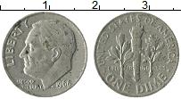 Изображение Монеты США 1 дайм 1966 Медно-никель XF