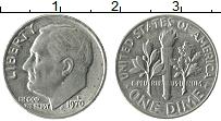 Изображение Монеты США 1 дайм 1970 Медно-никель XF Теодор Рузвельт. D