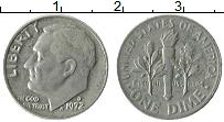 Изображение Монеты США 1 дайм 1972 Медно-никель XF Теодор Рузвельт. D