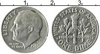 Изображение Монеты США 1 дайм 1983 Медно-никель XF Теодор Рузвельт. P