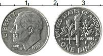 Изображение Монеты США 1 дайм 1997 Медно-никель XF Теодор Рузвельт. D