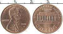 Изображение Монеты США 1 цент 2001 Бронза XF Авраам Линкольн D
