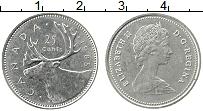 Изображение Монеты Канада 25 центов 1985 Медно-никель XF Елизавета II. Благор