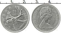 Изображение Монеты Канада 25 центов 1974 Медно-никель XF Елизавета II