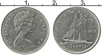 Изображение Монеты Канада 10 центов 1975 Медно-никель XF Елизавета II