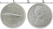 Изображение Монеты Канада 10 центов 1967 Серебро XF