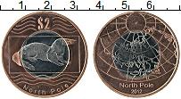 Продать Монеты Северный Полюс 2 доллара 2012 Биметалл