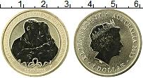 Изображение Монеты Австралия 1 доллар 2013 Латунь UNC Елизавета II. Рожден