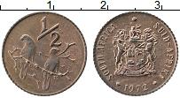 Изображение Монеты ЮАР 1/2 цента 1972 Бронза XF