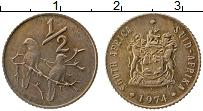 Изображение Монеты ЮАР 1/2 цента 1974 Бронза XF
