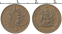 Изображение Монеты ЮАР 1/2 цента 1970 Бронза XF