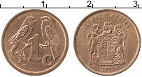 Изображение Монеты ЮАР 1 цент 1997 Бронза XF