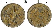 Изображение Монеты ЮАР 1 цент 1982 Бронза XF Балтазар Йоханнес Фо