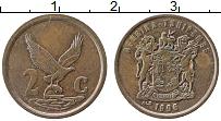 Изображение Монеты ЮАР 2 цента 1996 Бронза XF