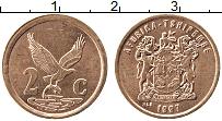 Изображение Монеты ЮАР 2 цента 1997 Бронза XF