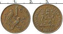 Изображение Монеты ЮАР 1 цент 1975 Бронза XF