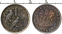 Изображение Монеты ЮАР 1 цент 1987 Бронза XF
