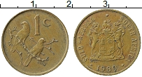 Изображение Монеты ЮАР 1 цент 1989 Бронза XF