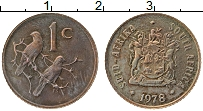 Изображение Монеты ЮАР 1 цент 1978 Бронза XF