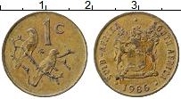 Изображение Монеты ЮАР 1 цент 1986 Бронза XF