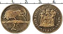 Изображение Монеты ЮАР 2 цента 1983 Бронза XF