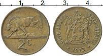 Изображение Монеты ЮАР 2 цента 1973 Бронза XF