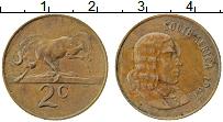 Изображение Монеты ЮАР 2 цента 1967 Бронза XF Йохан ван Рибек