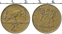 Изображение Монеты ЮАР 2 цента 1984 Бронза XF