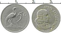 Изображение Монеты ЮАР 5 центов 1965 Медно-никель XF Йохан ван Рибек