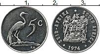 Изображение Монеты ЮАР 5 центов 1974 Медно-никель UNC-
