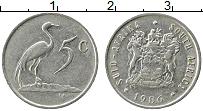Изображение Монеты ЮАР 5 центов 1986 Медно-никель XF