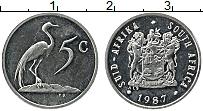 Изображение Монеты ЮАР 5 центов 1987 Медно-никель UNC-