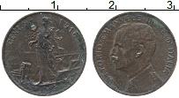 Изображение Монеты Италия 1 сентесим 1916 Бронза XF Витторио Эммануил II
