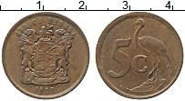 Изображение Монеты ЮАР 5 центов 1997 Бронза XF