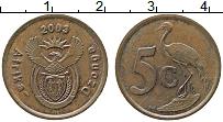 Изображение Монеты ЮАР 5 центов 2003 Бронза XF