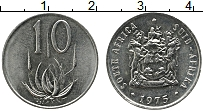 Изображение Монеты ЮАР 10 центов 1975 Медно-никель UNC-